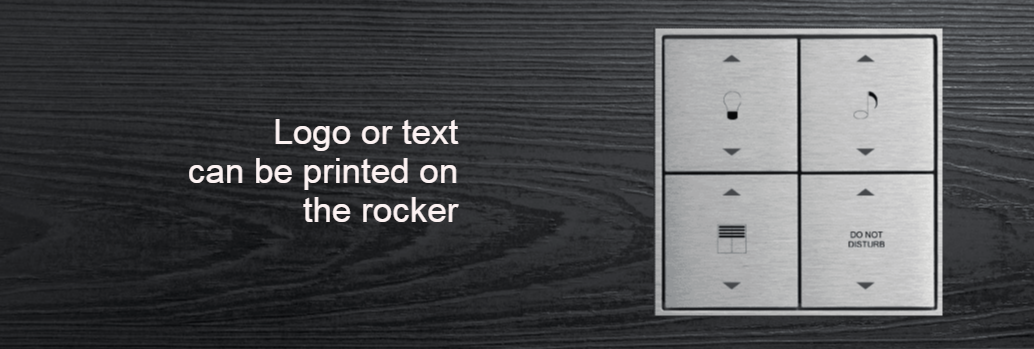 Text on rocker